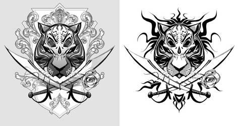 Tiger-Pirate tattoo by BillyNunez