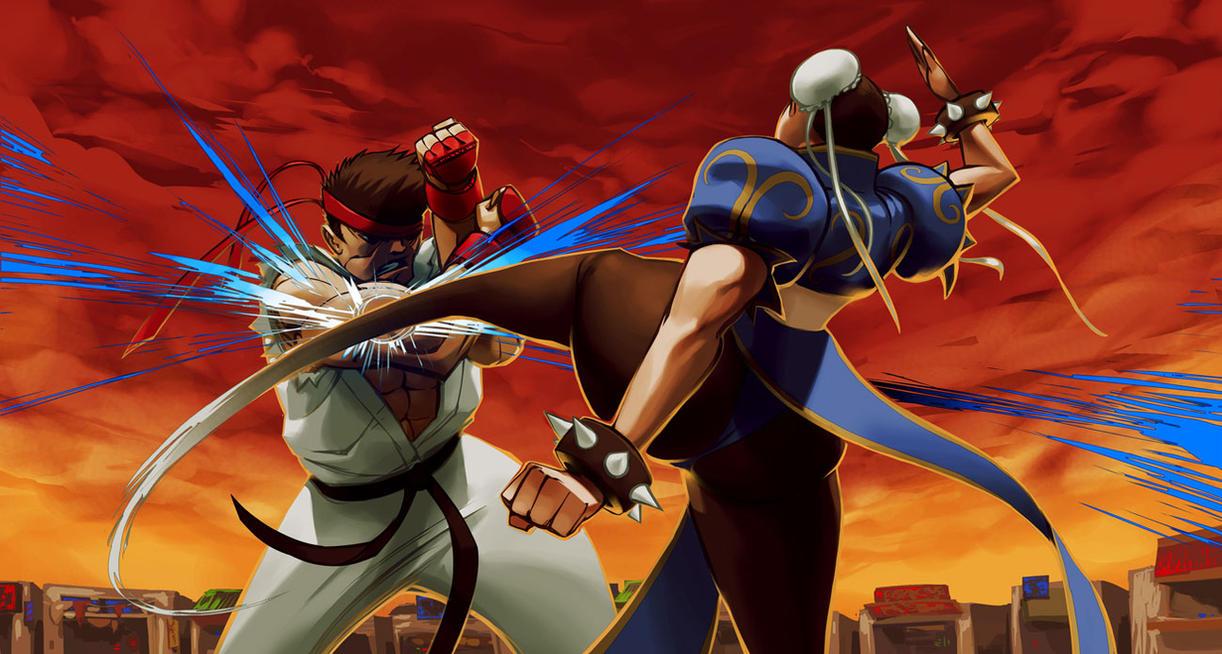 Ryu vs Chun-Li by biz20