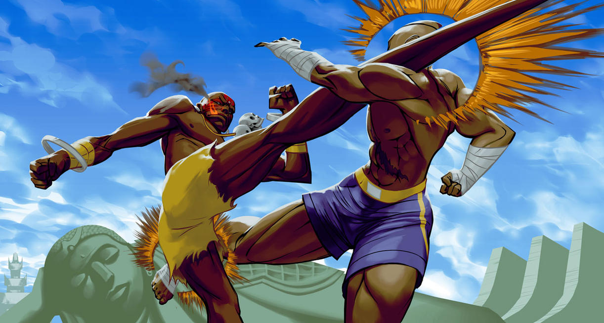 Sagat vs Dhalsim by biz20