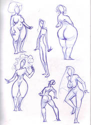 female shapes by BillyNunez