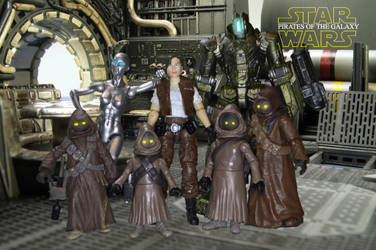 Nora, her droids and the Jawas