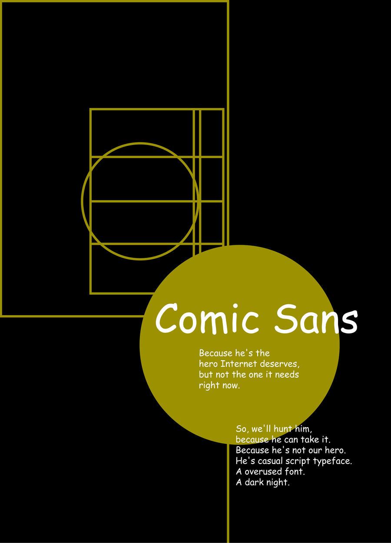 dark comic sans knight by orangehamster