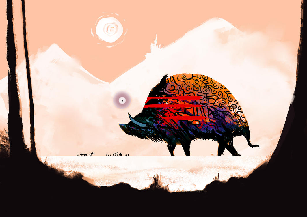 Gargantuan Mammoth-Boar by orangehamster
