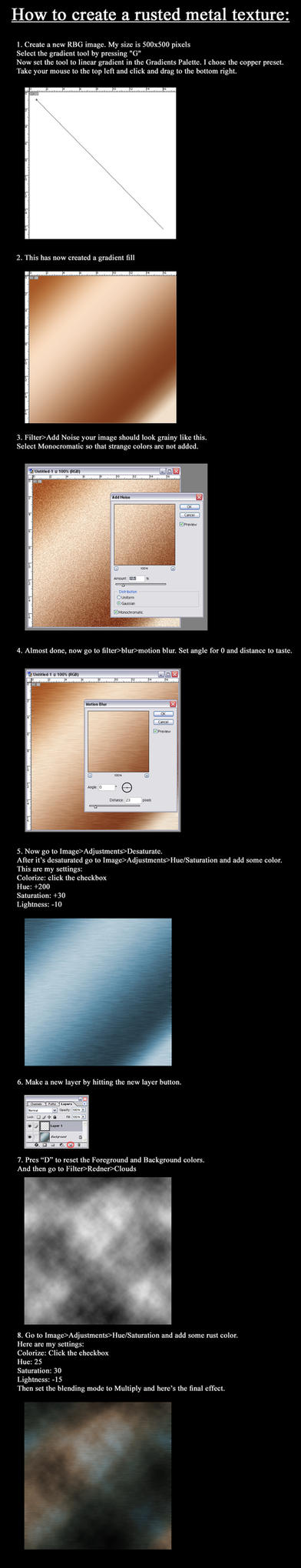 Rusted metal texture tutorial by Unwanted83
