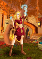 WoW: Blood Elf Spellcaster by Youmane
