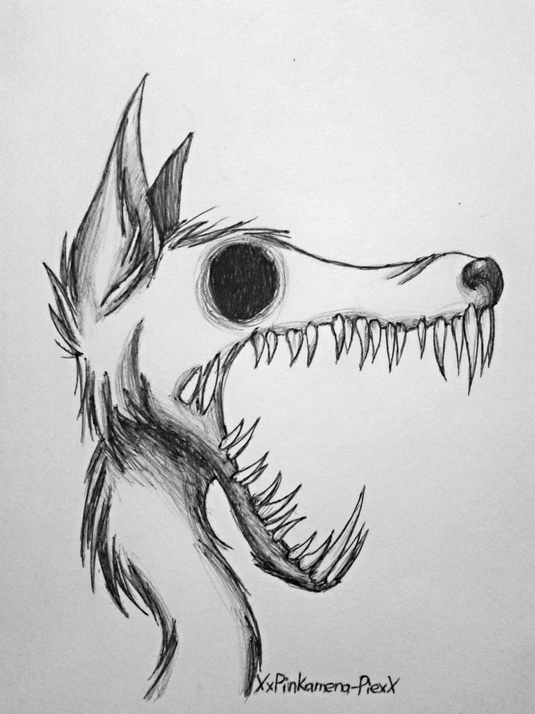 monstrous canine pen drawing by pinkamenacheshirepie on deviantart