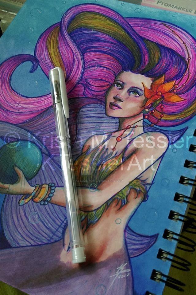 Art Over Madness:Mermaid Concept Art (Sketchbook) by KTessierArt