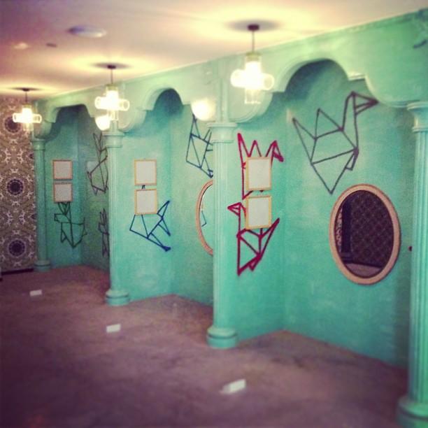 origami mural by galactikcaptain on deviantart. Black Bedroom Furniture Sets. Home Design Ideas