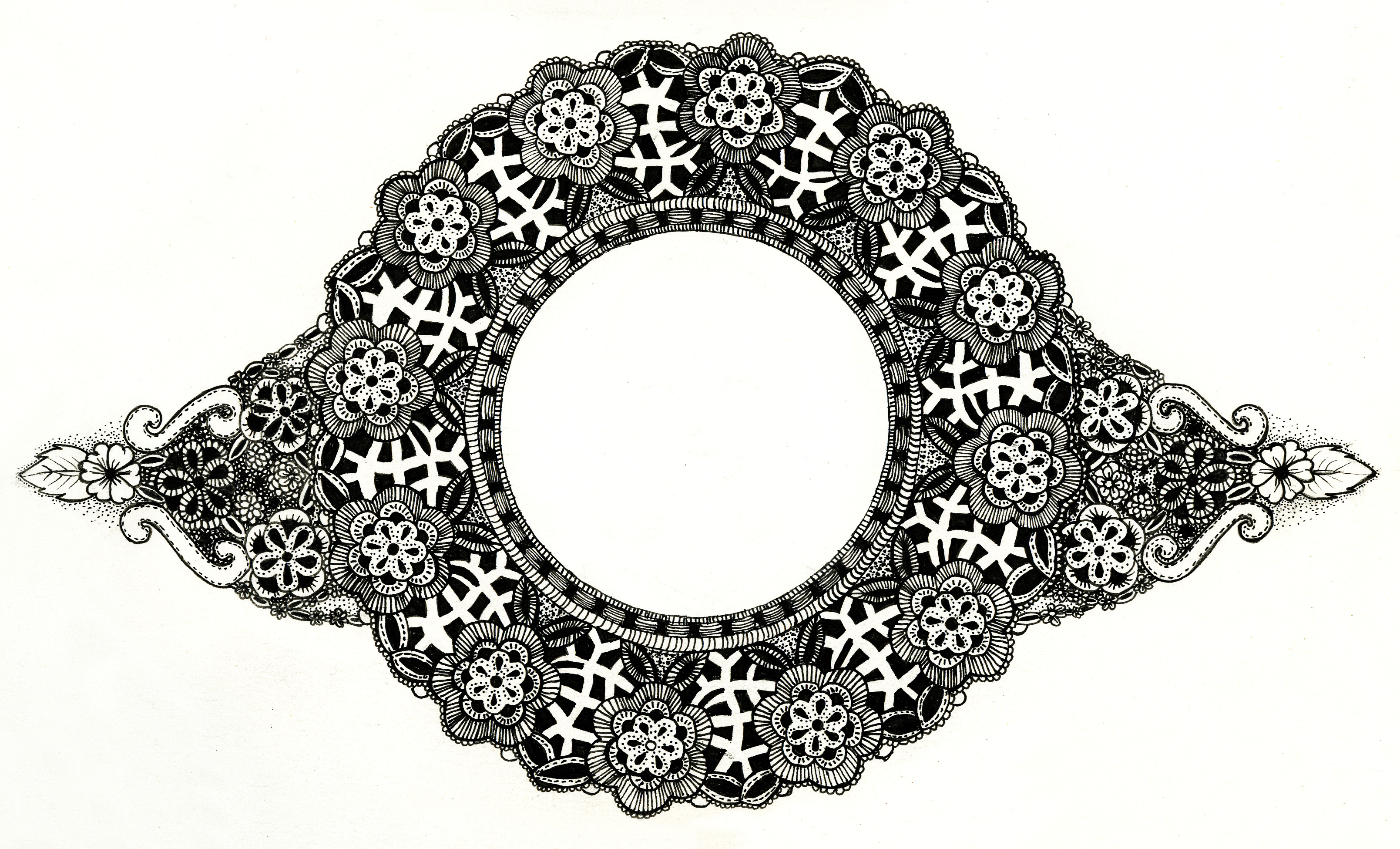 lace border drawing - photo #32