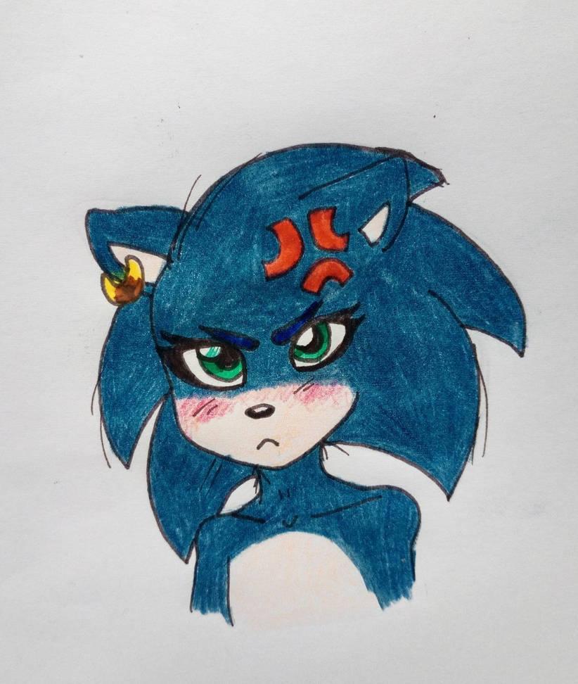 Sonic the waifu by Blazemacska