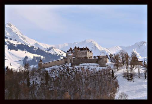 Au chateau de  Gruyeres