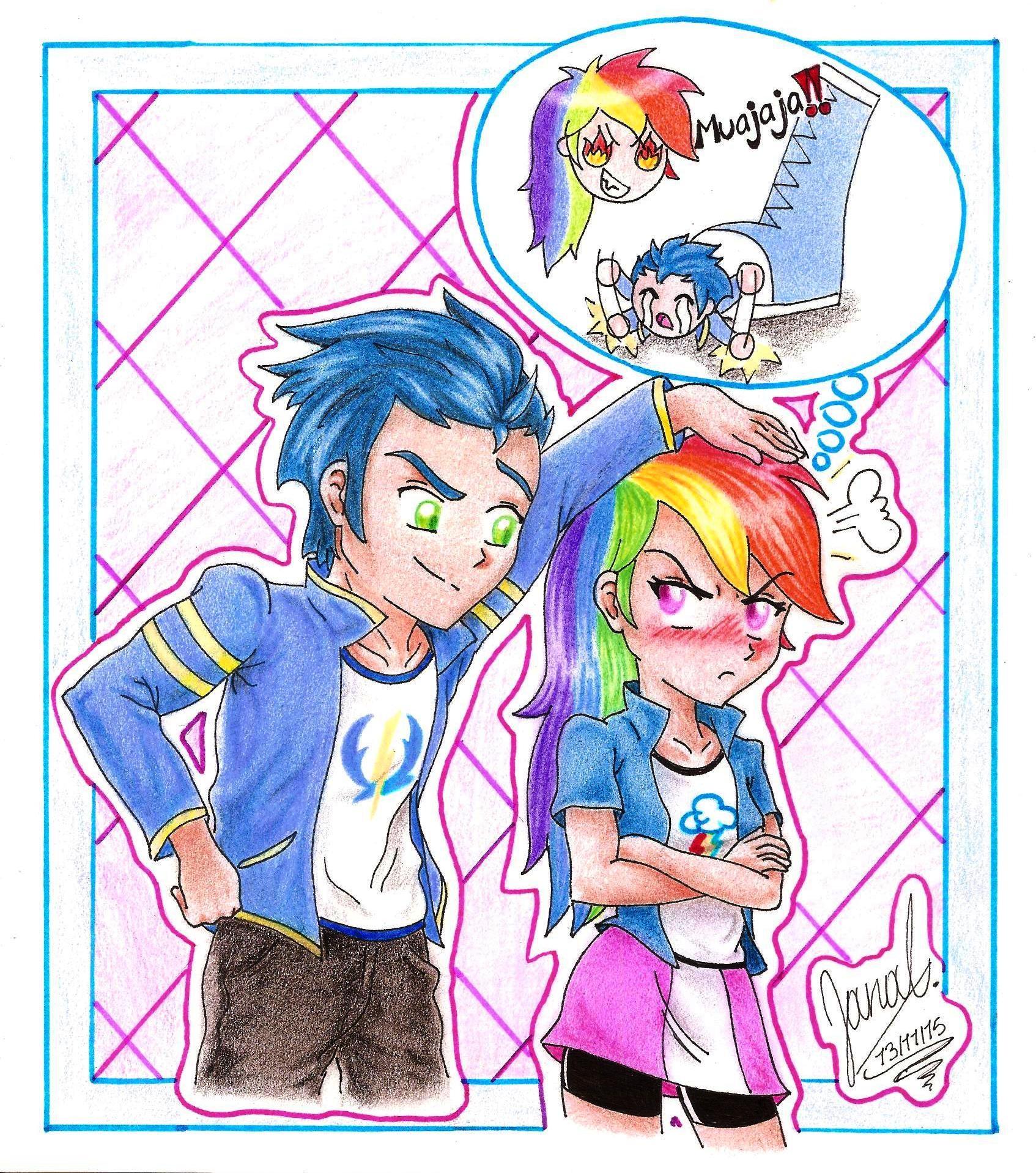 Mlp Rainbow Dash And Soarin Human
