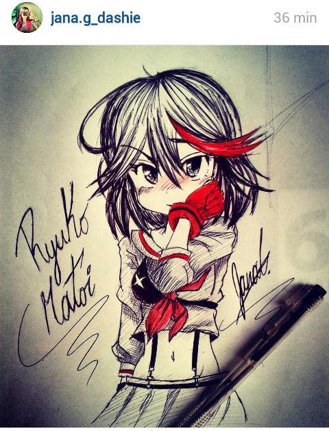 Sketch Ryuko Matoi by janadashie