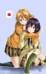 Yuzu and Mei by janadashie