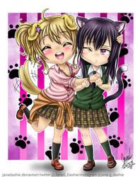 Yuzu and Mei kawaii by janadashie