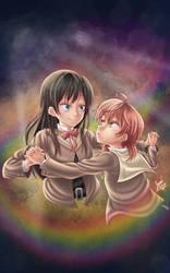 touko and yuu by janadashie