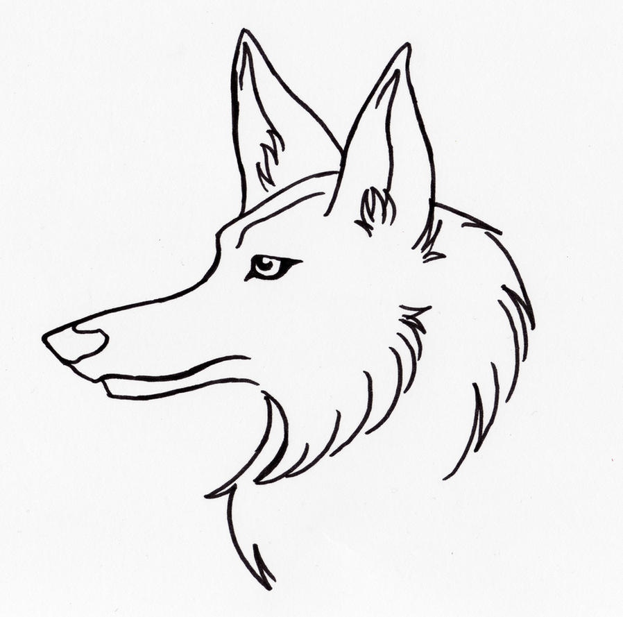 Line Drawing Wolf Head : Free wolf head line art by nanaphiroth on deviantart