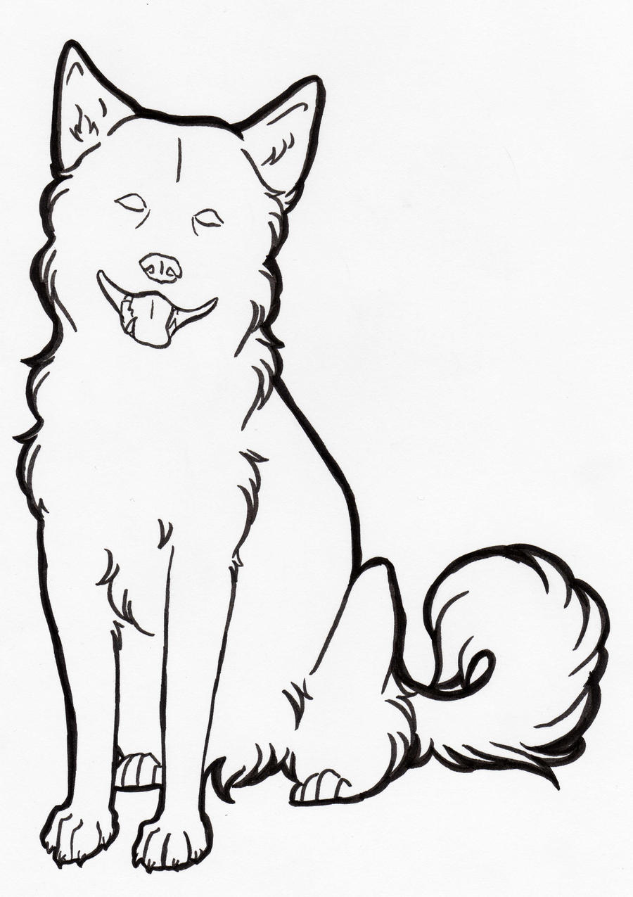 Line Drawing Of A Dog : Free dog line art by nanaphiroth on deviantart