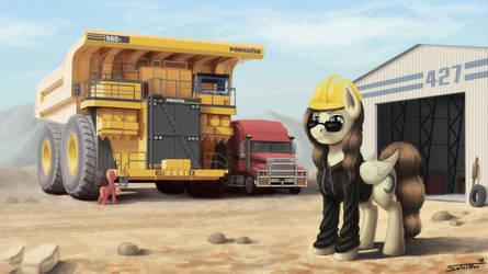 [Commission] My Big Yellow Ponyatsu by Sa1ntMax