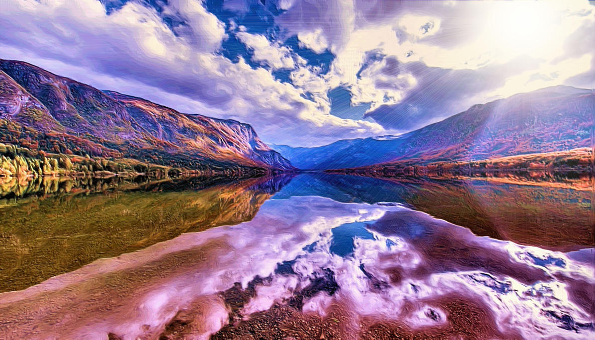 Clouds On Water by montag451
