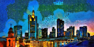 Frankfurt Cityscape by montag451