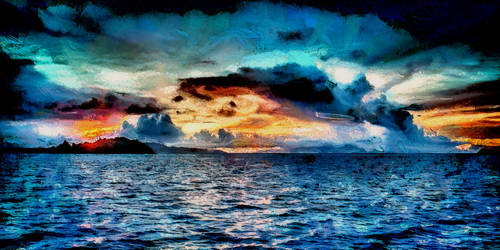 Bora-Bora Seascape by montag451