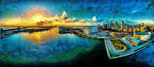 Miami Cityscape Revisited by montag451