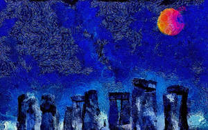 Van Gogh At Stonehenge by montag451