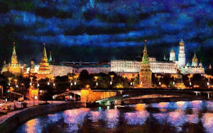 Moscow Nightscape by montag451