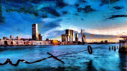 Rotterdam Cityscape by montag451