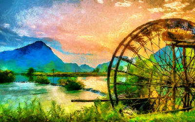 The Water Wheel by montag451