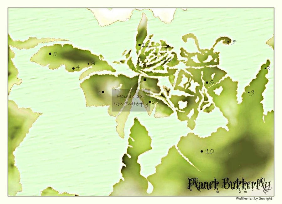 World map of Butterfly by sunnight1