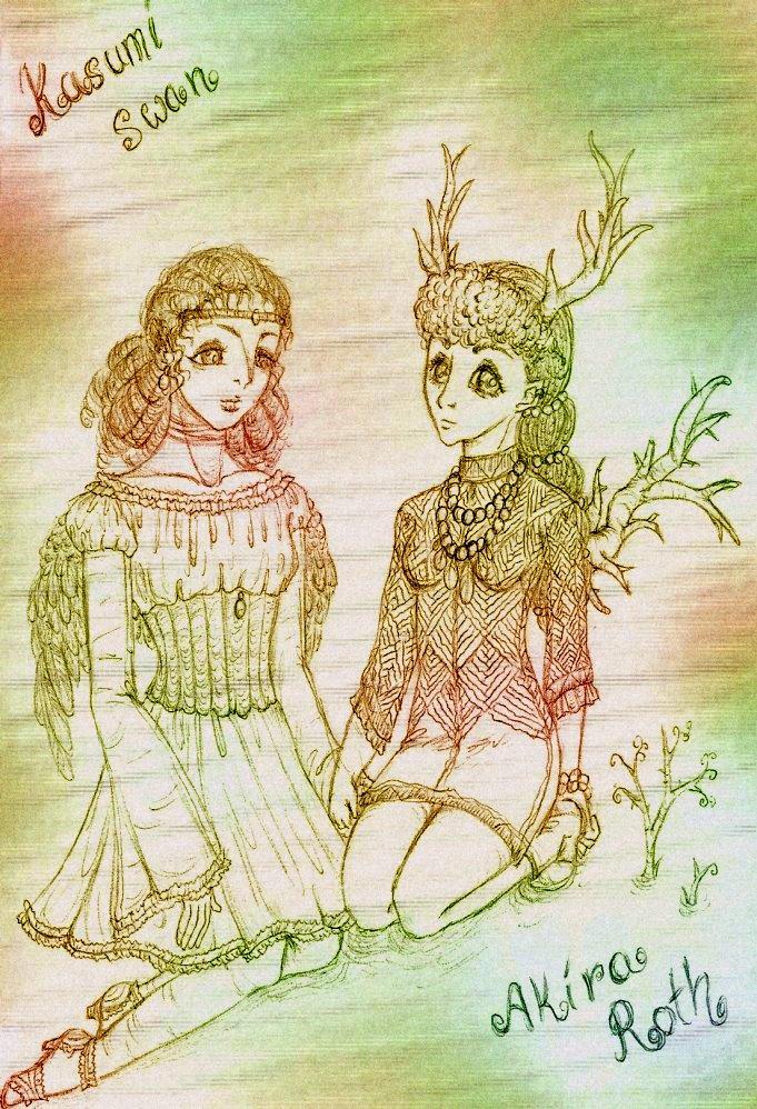 Kasumi Swan and Akira Roth by sunnight1