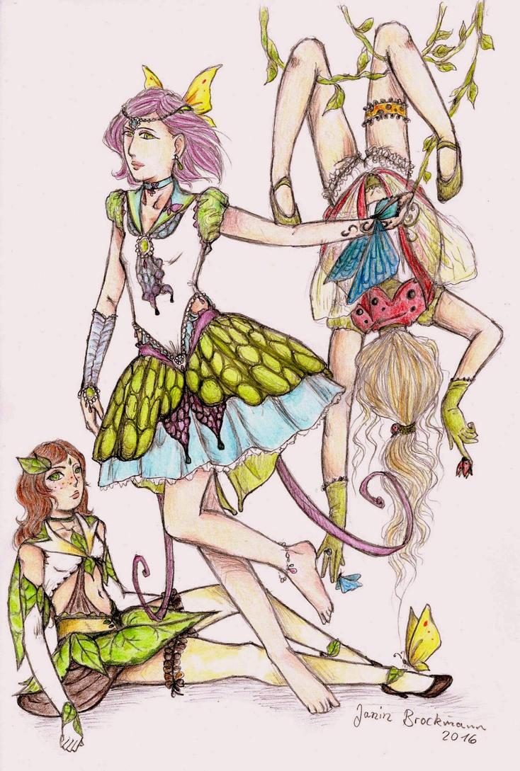 Sailor Greenblaett, Butterfly und Ladybird (colo) by sunnight1