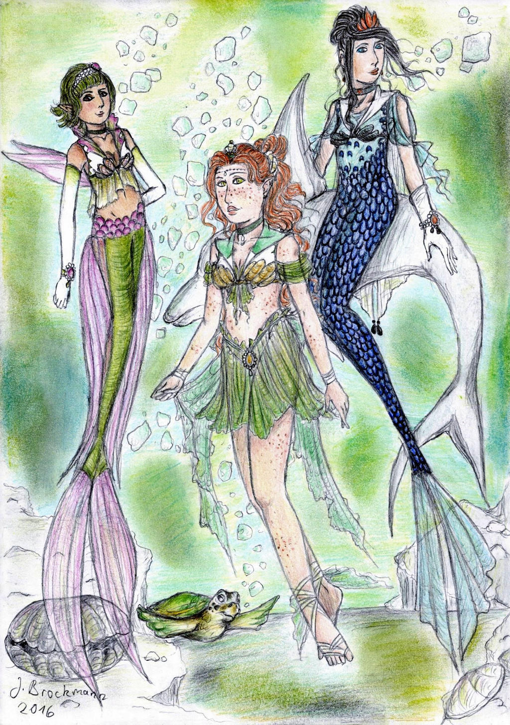 Sailor Cerrybelle, Mizubelle und Neobelle (colo) by sunnight1