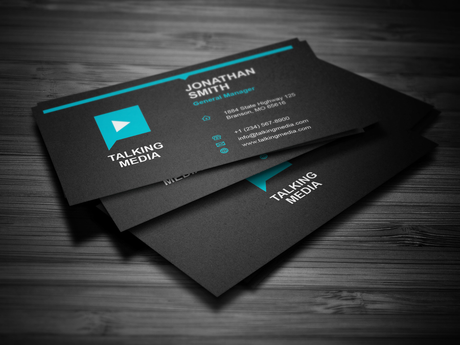 Flat Corporate Business Card by nazdrag on DeviantArt