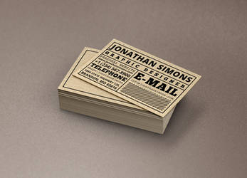 Cardboard Ticket Business Card