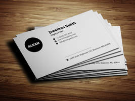 Minimalistic Black and White Business Card by nazdrag