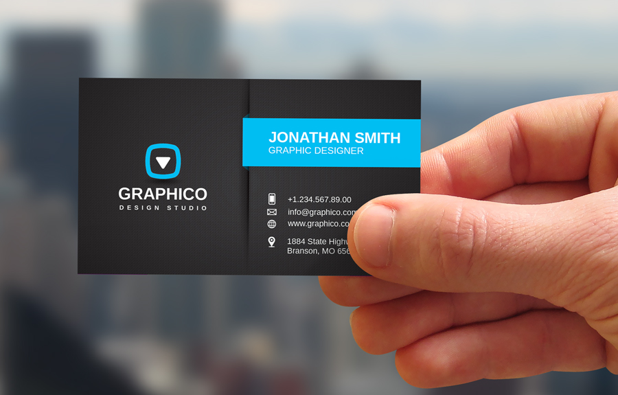 Here is my business card.\