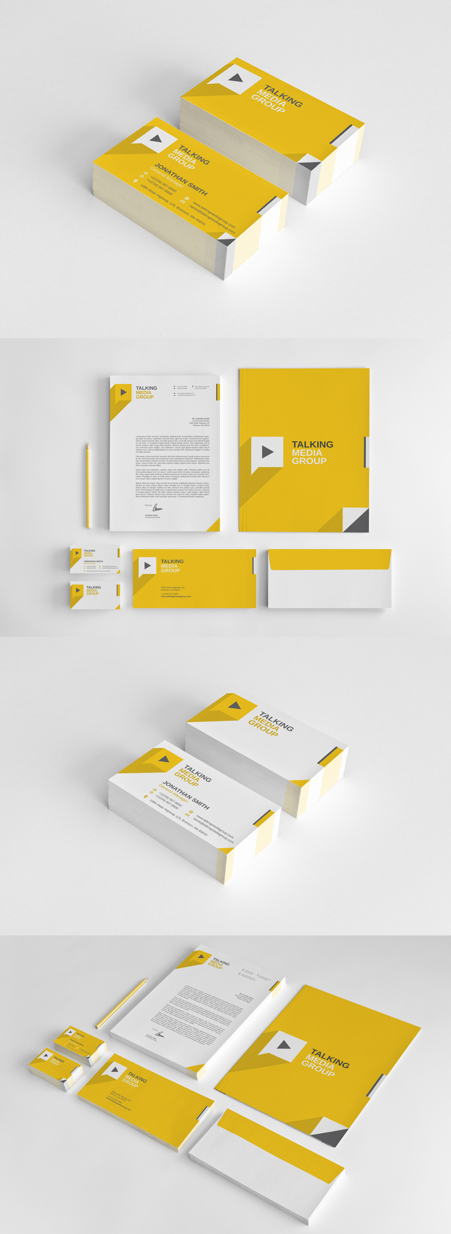Flat Corporate Stationery vol.1 by nazdrag