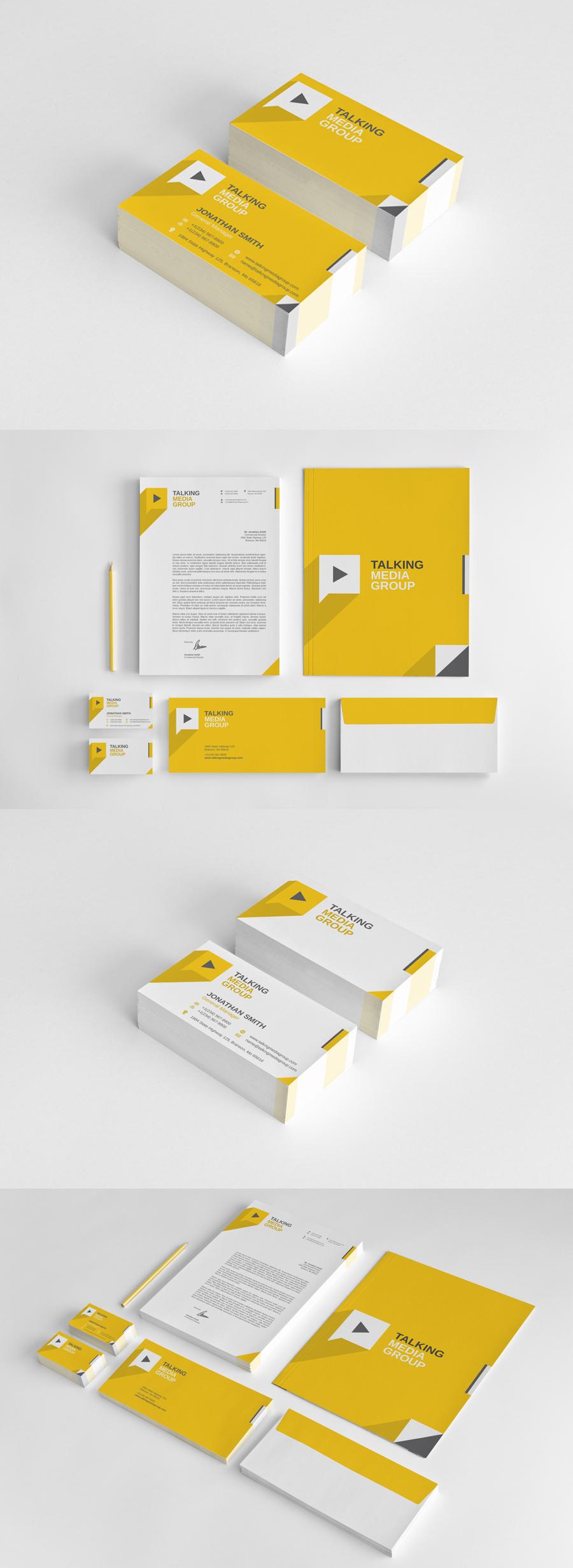 Flat Corporate Stationery vol.1 by nazdrag