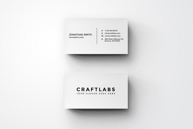 Simple Minimal Business Card by nazdrag on DeviantArt