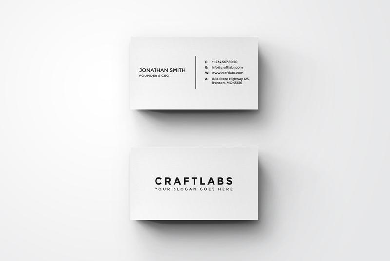 Simple Minimal Business Card by nazdrag on DeviantArt