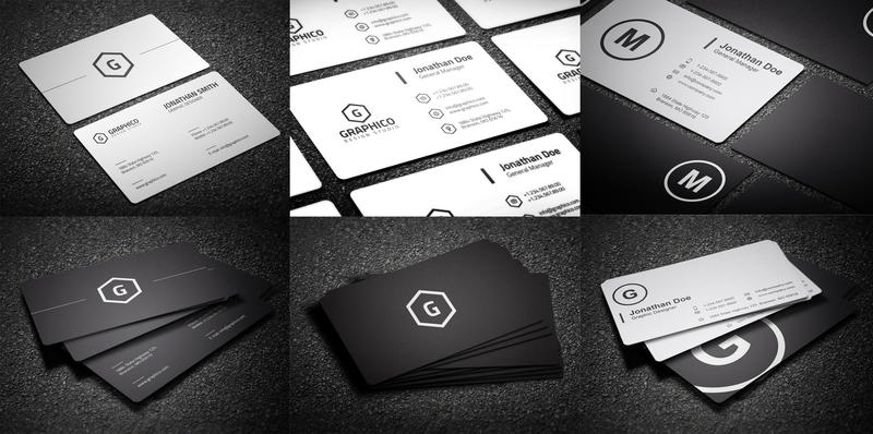 Black And White Business Cards Bundle 13 By Nazdrag On
