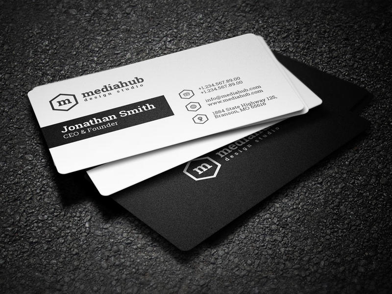2 in 1 black and white business card by nazdrag on deviantart 2 in 1 black and white business card by nazdrag flashek Images