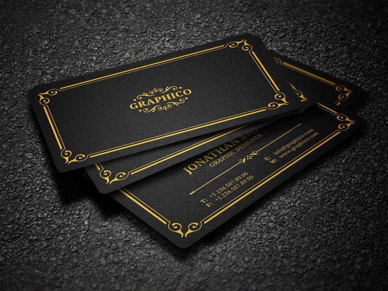 Elegant Vintage Business Card by nazdrag on DeviantArt