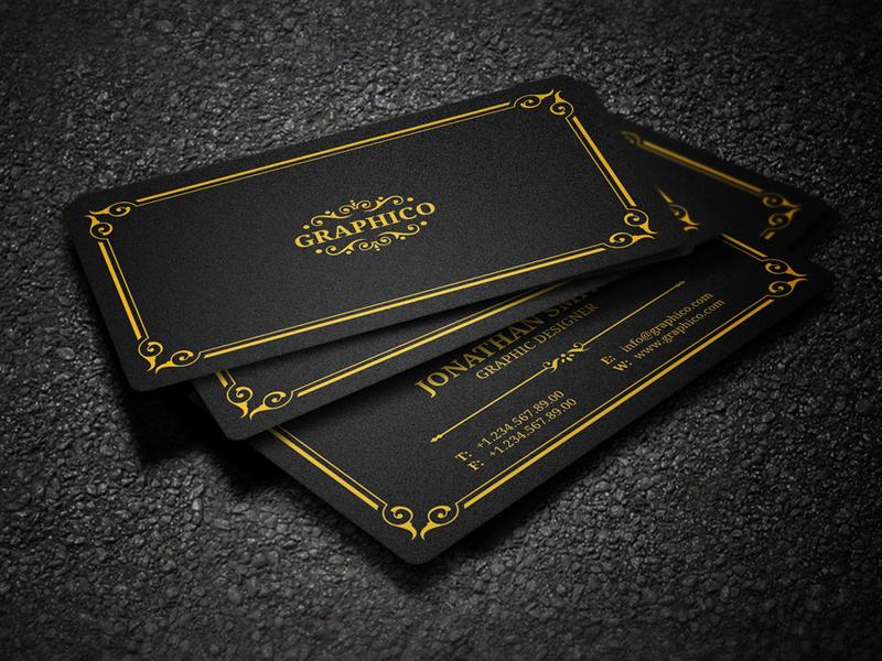 elegant vintage business card by nazdrag - Vintage Business Cards