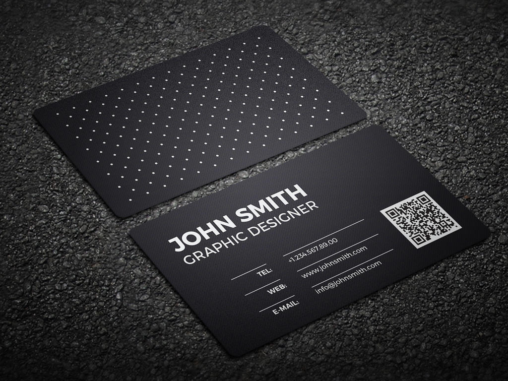 2 in 1 Black and White Business Card 59 by nazdrag on