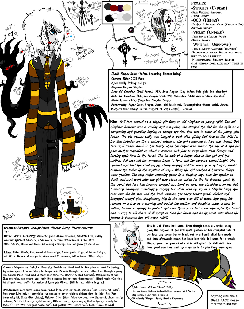 Doll face ref sheet by Dysfunctional-H0rr0r