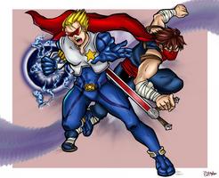 Captain Commando Strider Hiryu - MvC by MisoKrattz